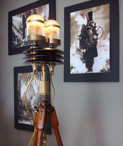 Steampunk Tripod Floor Lamp + Sam Van Olffens' Art