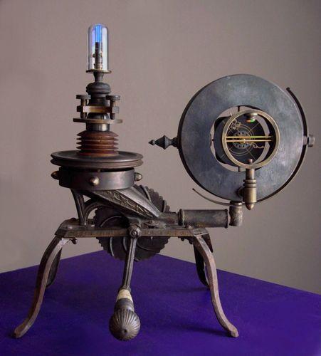 Steampunk Spectral Clock