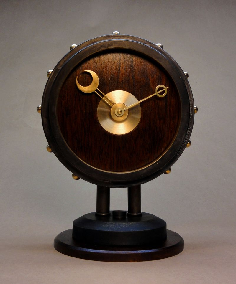 The Steampunk Modern Desk Clock