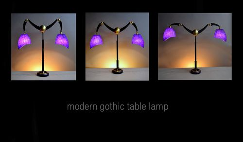 Modern gothic table lamp trio