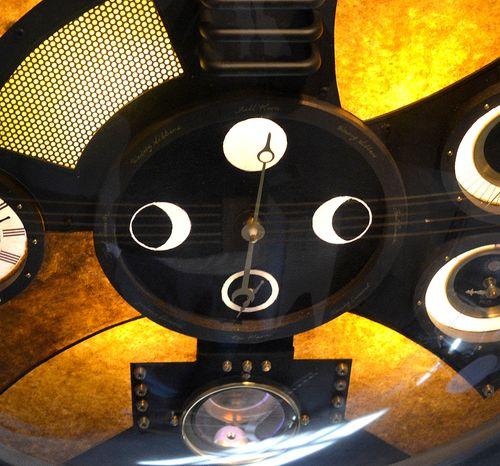 Lunar clock close up