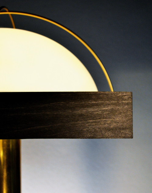 Art Donovan Salon Lamp -Up View