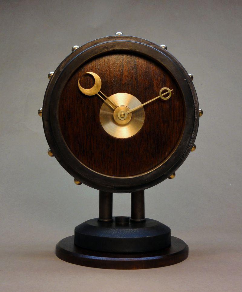 The Steampunk Modern Desk Clock
