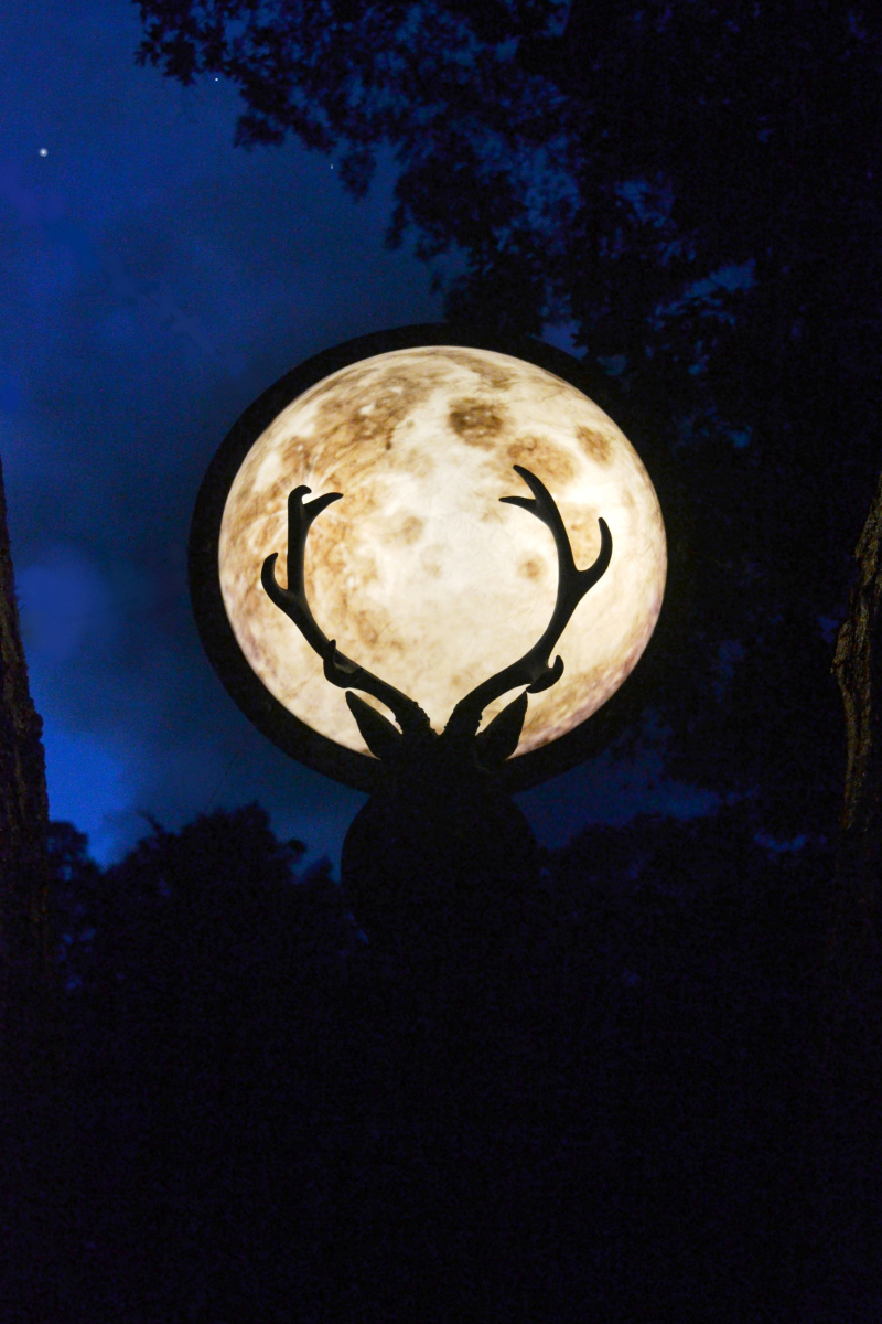 The Hollows Beacon at Night